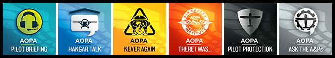 AOPA Podcast Logo Images